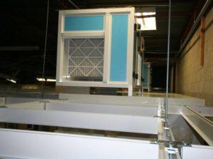 AHU Installation above Incubator