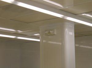 Cleanroom Return Air Column and Tear Drop Lighting