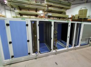 Section AHU Design to allow delivery up the elevator