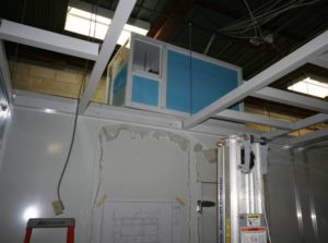 AHU Installation above Incubator