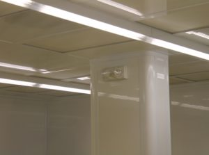 Cleanroom Return Air Column and Tear Drop Lighting