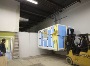 Pharmacy Cleanroom Air Handling Unit Installation