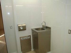 Stainless Steel Cleanroom Sink - Hands Free